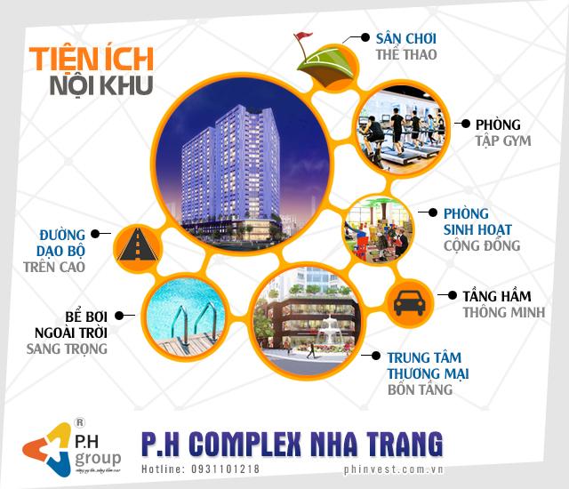 Tiện ích nội khu tại dự án P.H Nha Trang
