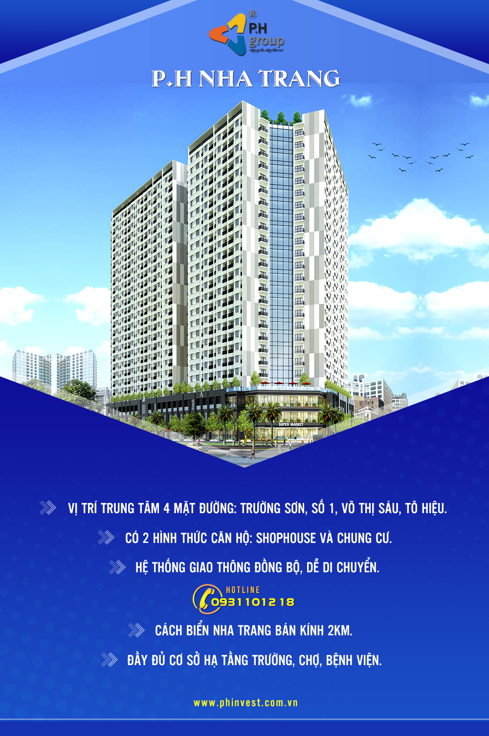 Căn hộ của dự án P.H Nha Trang